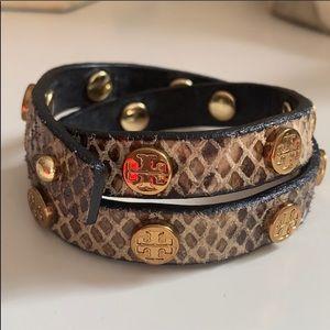 Snakeskin Tory Burch Bracelet